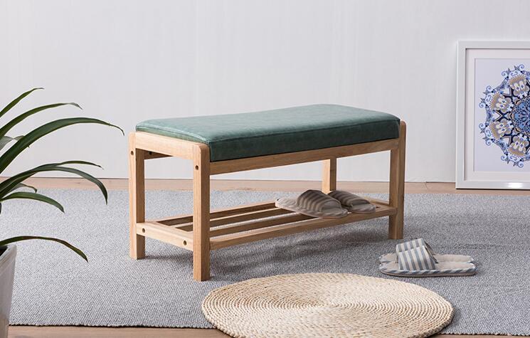 PU Leather Shoe Rack Ottoman Organizer & Hallway Bench With Cushion Living Room Furniture Shoe Shelf Holder Storage Organizer
