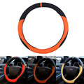 2016 Sport Style 38cm Car Steering Wheel Cover Anti-Slip PU Leather  4 color Car Decoration