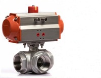 1 1/4 inch Stainless Steel 3 Way Ball Valve Types of Pneumatic Valves