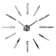 2019 new sale 3d diy wall clock clocks horloge watch Acrylic mirror stickers real Living Room Quartz Europe wall stickers tanie tanio joid art CN (pochodzenie) Nowoczesne 12S012 circular Metal 90cm Pojedyncze twarzy 900mm 250g Zegary ścienne 9mm blachy