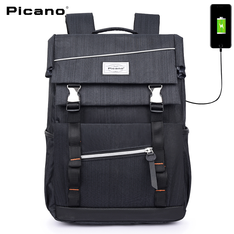 PICANO new style Men Classic Business Backpack With USB charging backpack For 15.6 inch laptop Women Travel Bag Teens School bag 14 15 15 6 inch flax linen laptop notebook backpack bags case school backpack for travel shopping climbing men women