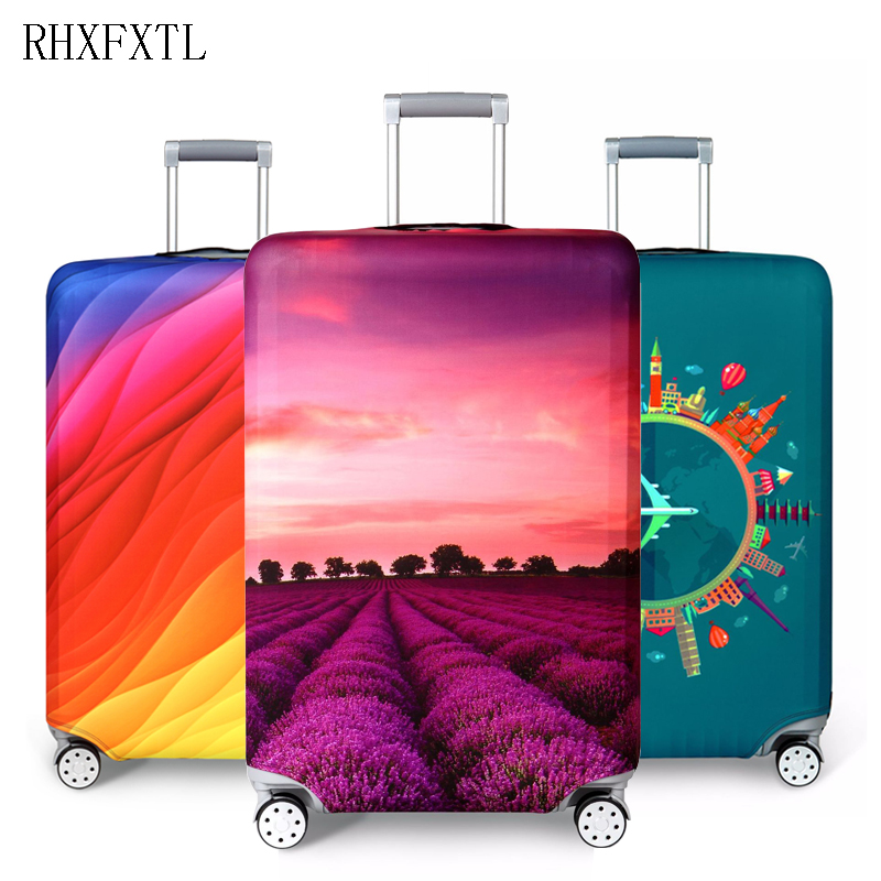 RHXFXTL suitcase case travel accessories travel trolley suitcase protective cover for S / M / L / XL/ 18-32 inch luggage cover travel accessories fashion striped suitcase protection cover 18 32 inch trolley dust cover suitcase protective cover