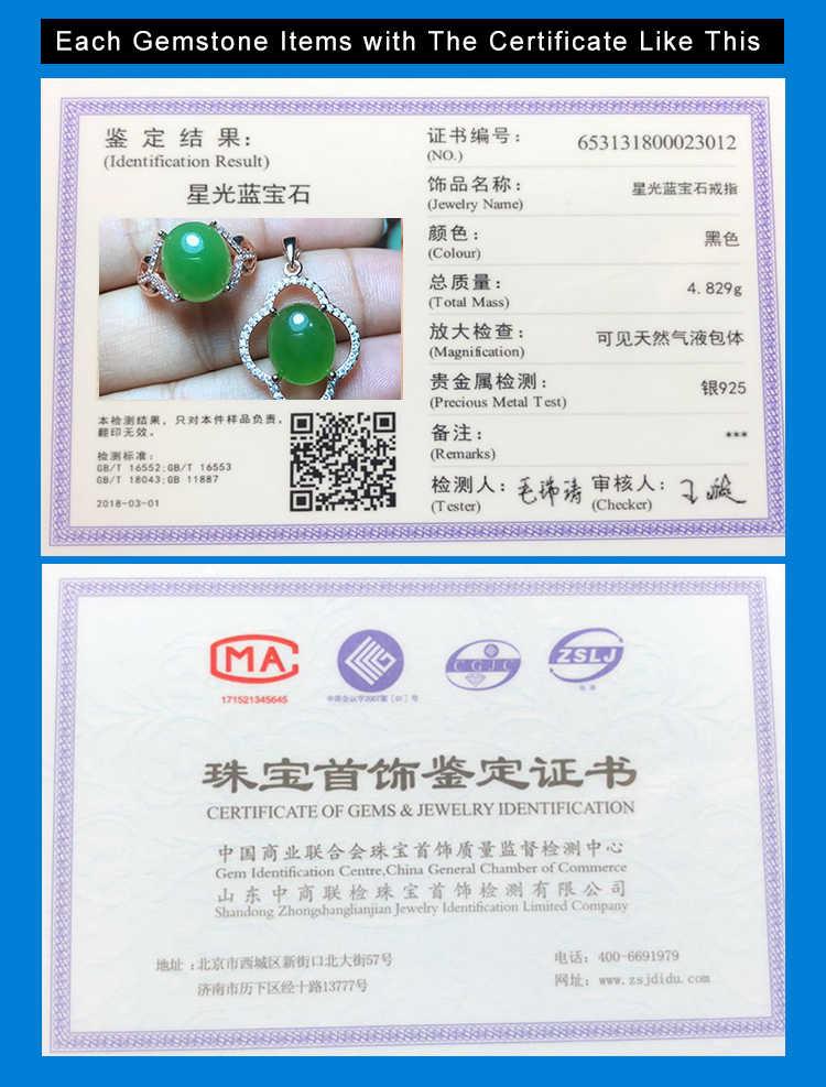 MeiBaPJ คลาสสิกธรรมชาติ Nephrite หยกชุดเครื่องประดับ 925 เงินสเตอร์ลิง 2 ชุดวิ่งสีเขียวหินเครื่องประดับสำหรับผู้หญิง