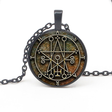 Vintage VINTAGE Seal Pendant Astaroth Imprint Necklace Jewelry Steampunk Mens and Women Long Chain Party Gift Souvenir