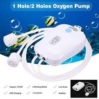 New USB Charging 1 Hole/2 Holes Air Bubble Stone Aerator Pond Pump Portable Oxygen Pump Aquarium Fish Tank Aerator Compressor
