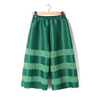 fósforo Envío Negro Capris Pantalones Todo En Pierna caqui Presión Libre Stock gris Plisado Algodón verde De Ancha vrWrgnEOxw