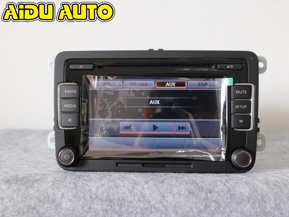 AIDUAUTO Stereo Autoradio RCD510 USB Lettore MP3 USB AUX PER VW Golf 5 6 Jetta MK5 MK6 CC Tiguan Passat Polo - 4