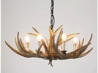 Countryside Chandelier for Home lighting decoration indoor christmas lamp pendentes e lustres Antlers wooden ceiling chandelier
