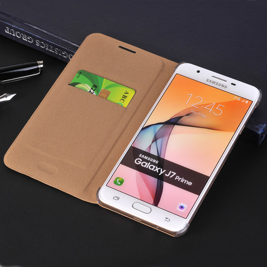 Galleria fotografica Leather Wallet Case For j3 a5 a510 2016 Flip Cover Phone Cases For Samsung Galaxy J5 Prime j7 Prime s6 s7 edge s8 plus coque
