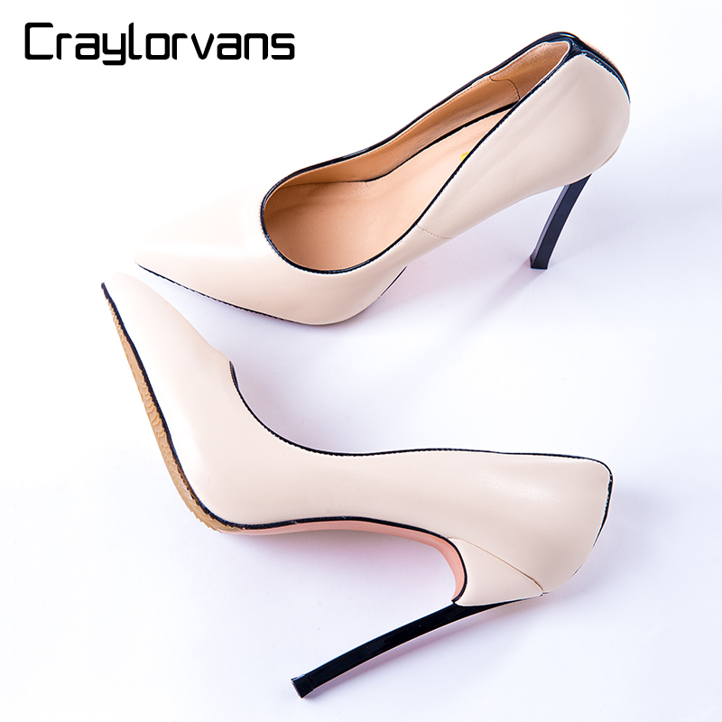 Craylorvans 18 Colors Pumps 2017 Shoes Women Sexy Shallow High Heels Fashion Party Wedding Ladies shoes chaussure femme talon 2016 red womens pumps chaussure femme cheap shoes for women real image fashion custom made ladies party evening shoes hot