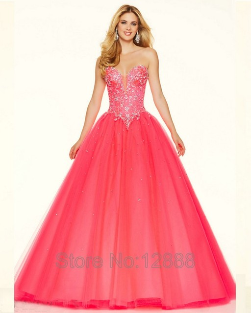 Style 98114 Pink Toxic Tulle Long Purple Prom Dresses Ball Gown 2016 ...