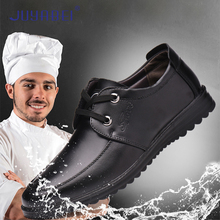 Chef Shoes Men Non-slip Oil-proof Protective Shoes Breathable Kitchen Work Shoes Restaurant Bakery Shop Barber Shop Waiter Shoes