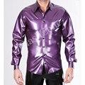 Бесплатная доставка!! мужчины резиновые фетиши латекс рубашка