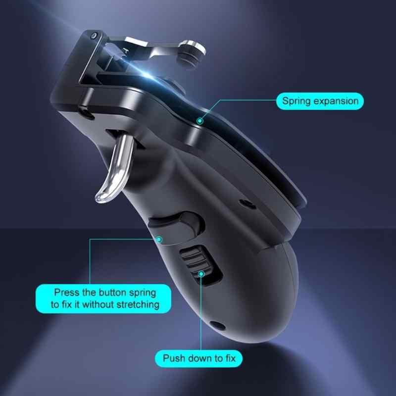 VODOOL H7 נייד משחקי ג 'ויסטיק Gamepad ידית עבור PUBG נייד אש כפתור הדק L1 R1 Shooter בקר עבור טלפונים טבליות