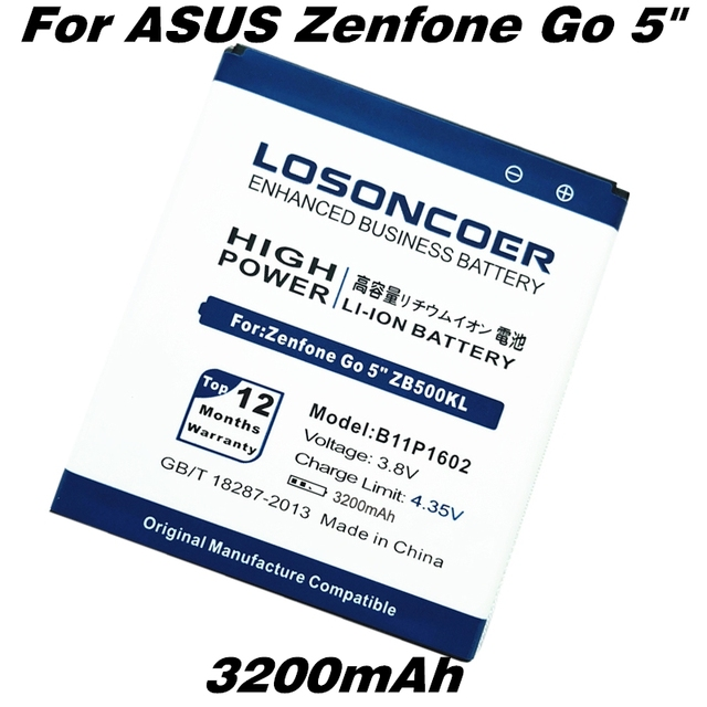"""3200mAh B11P1602 Battery For ASUS Zenfone Go 5"""" ZB500KL Battery X00AD X00ADC X00ADA Mobile Phone Batteries"""