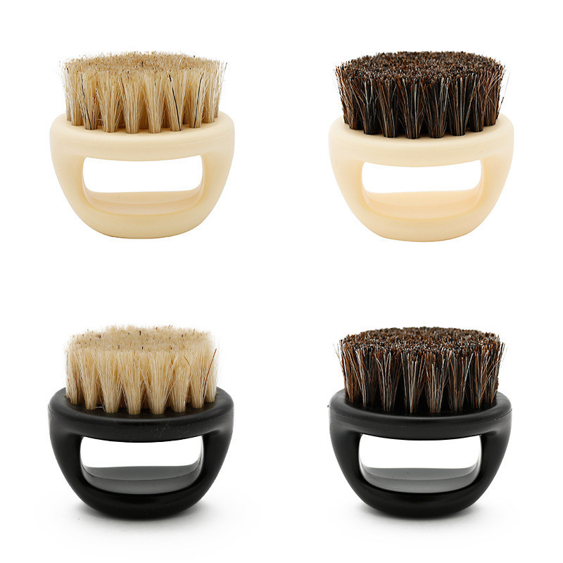 Image 3 - New Men's special Wild boar bristle beard brush Comb set Plastic beard comb beard care set Comb Beard tool brushes Hot Selling-in Combs from Beauty & Health