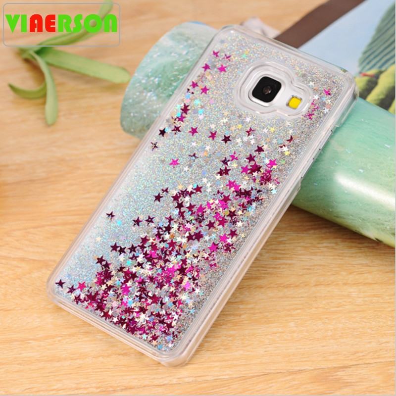 Note 5 S7 Edge A3 A5 A7 2016 S8 Plus Bling Liquid Glitter Sand Quicksand Star Clear Case For Samsung Galaxy Note 8 Accessories
