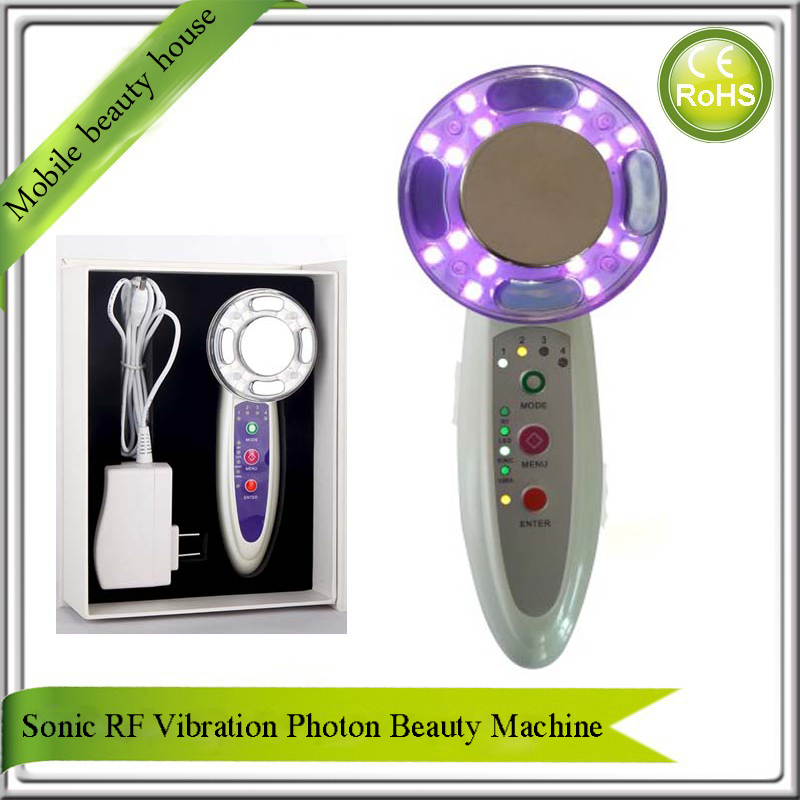 Ultrasonic 7 Color Photon Skin Rejuvenation RF Vibration Face And Body Wrinkle Remover Skin Lifting Whitening Beauty Massager все цены