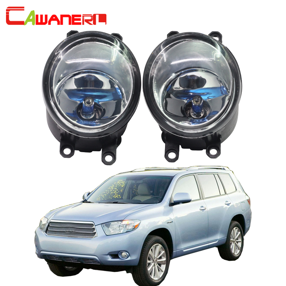 Cawanerl 100W Car Halogen Fog Daytime Running Light DRL For Toyota Highlander Hybrid 2008-2010 For Toyota Highlander 2008-2012 cawanerl for toyota highlander 2008 2012 car styling left right fog light led drl daytime running lamp white 12v 2 pieces