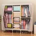 Хорошо проданный шкаф из ткани Оксфорд  большой простой домашний стальной шкаф для хранения одежды  плотная стальная рама 25 мм