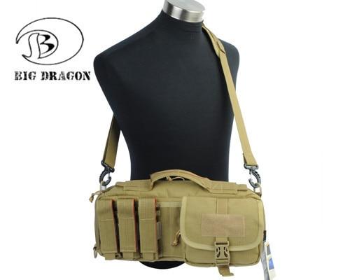 ФОТО Multifunction Handbag Camo Waist Pouches Tactical Hunting Bag Messenger Molle Bag Shoulder Backpack With Adjustable Belt Tan