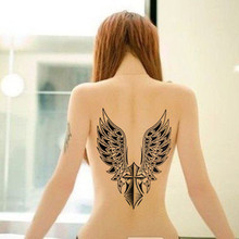 Black Wing Large Tattoo Water Transfer Waterproof Temporary Tattoo Stickers Arm Body Art Removable Back Tattoos Sexy Product