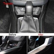 Tonlinker Interior Posição Ao Lado Da Engrenagem Do Carro Tampa etiqueta para Peugeot 308 2 PCS T9 2014-19 Estilo Do Carro ABS cobertura de carbono adesivo