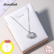 Ataullah Fashion Shell Pearl Necklace Simple Personality 925 Sterling Silver Pendant for Women Chain Party Jewelry Bijoux NW056(China)