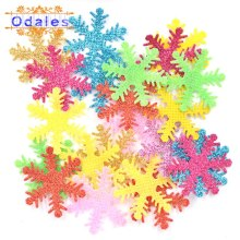 100Pcs Multicolor Mixed Christmas Snowflakes Ome Christmas Party Table DIY Handmade Gift Supplies Appliques Wedding Decoration обои ome 3d dz03