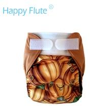 Happyflute nb & s карманный & aio пеленки с конопли вставки, fit 0-6 месяцев ребенок или 6-19lbs ребенка