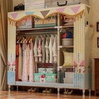 126*46*172cm Clothes Storage Cabinet Wardrobe Organizer Clothing Rack Clothes Closet Fabric Wardrobe Garment Hanging Organizer