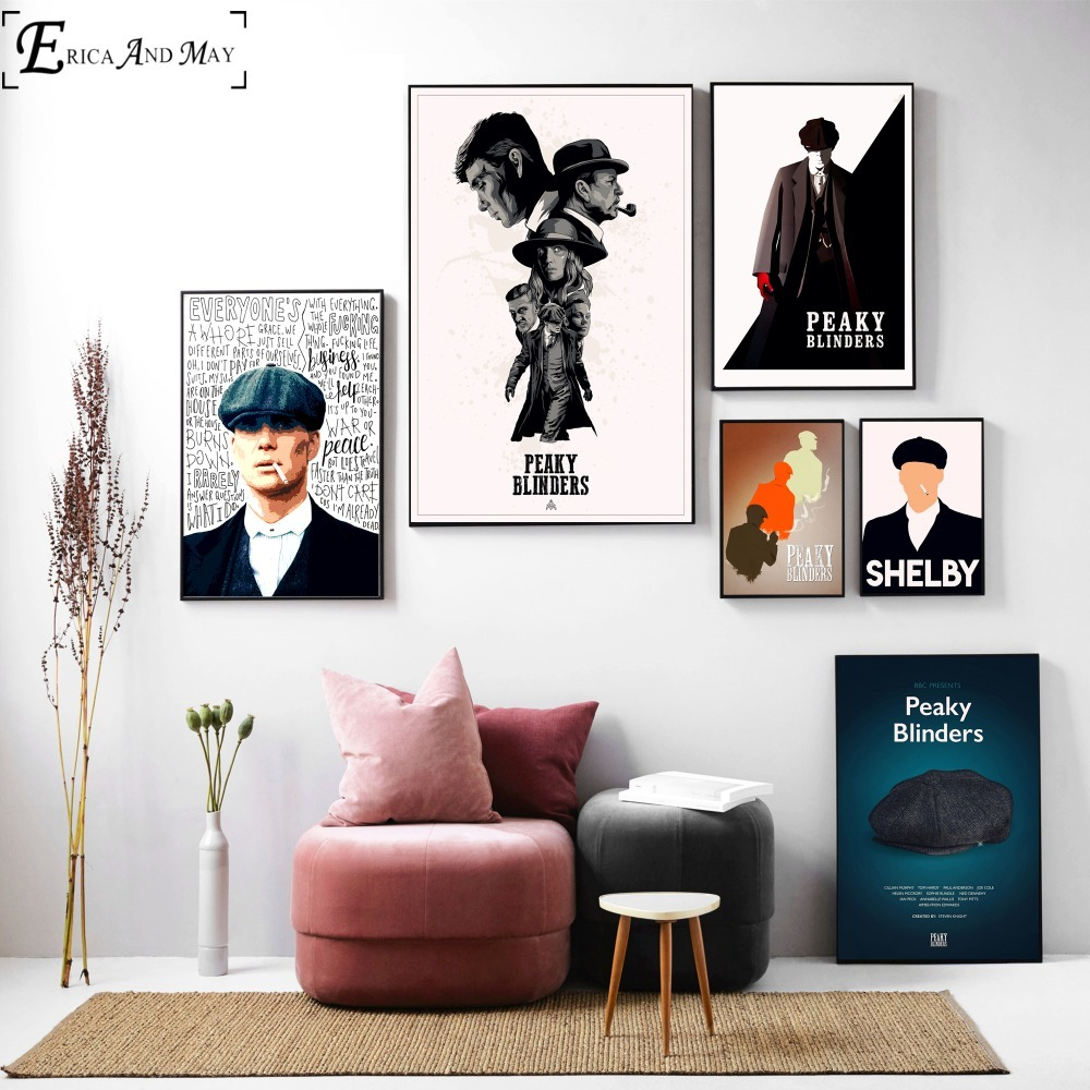 Peaky Blinders Shelby Fan Artwork Wall Art Canvas Painting