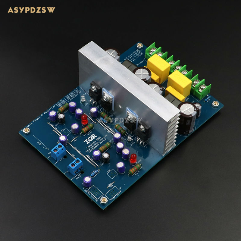 L15DX2 IRS2092 IRFI4019H Class D Digital power amplifier finished board Dual channel IRAUDAMP7S 125W-500W fever class single channel lm3886tf power amplifier board finished board can be parallel to the classic circuit