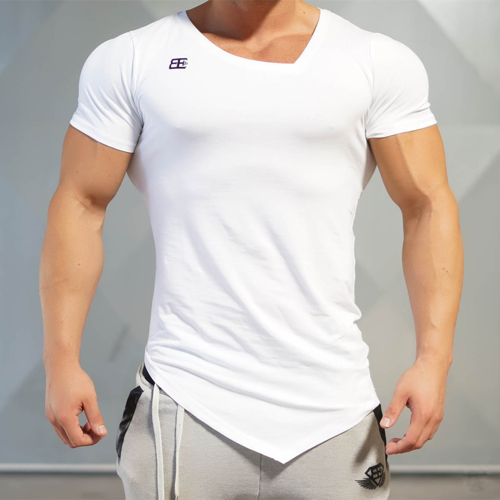 2016 New Fashion Gymshark Tops 100% Compression T Shirts