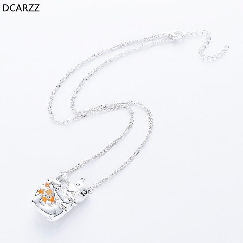 Dessin animé ourson collier les perles médaillon pendentif femmes filles cadeaux argent Winnie collier classique bijoux en gros-in Pendentifs from Bijoux et Accessoires    3