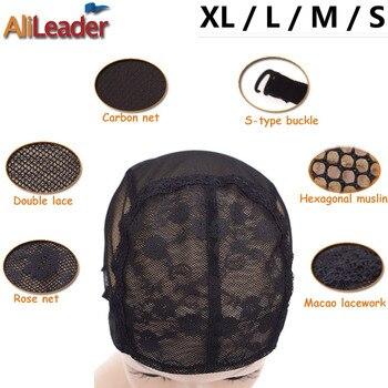 50 Pcs/Lot Lace Material Professional Wig Caps For Making Wigs XlL/L/M/S Glueless Wig Cap Elastic Adjustable Hair Weave Caps