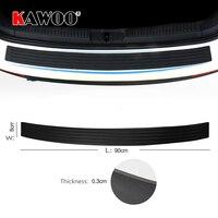 KAWOO For Nissan Tiida X TRAIL SUNNY 350Z ROGUE ALTIMA Rubber Rear Guard Bumper Protect Trim