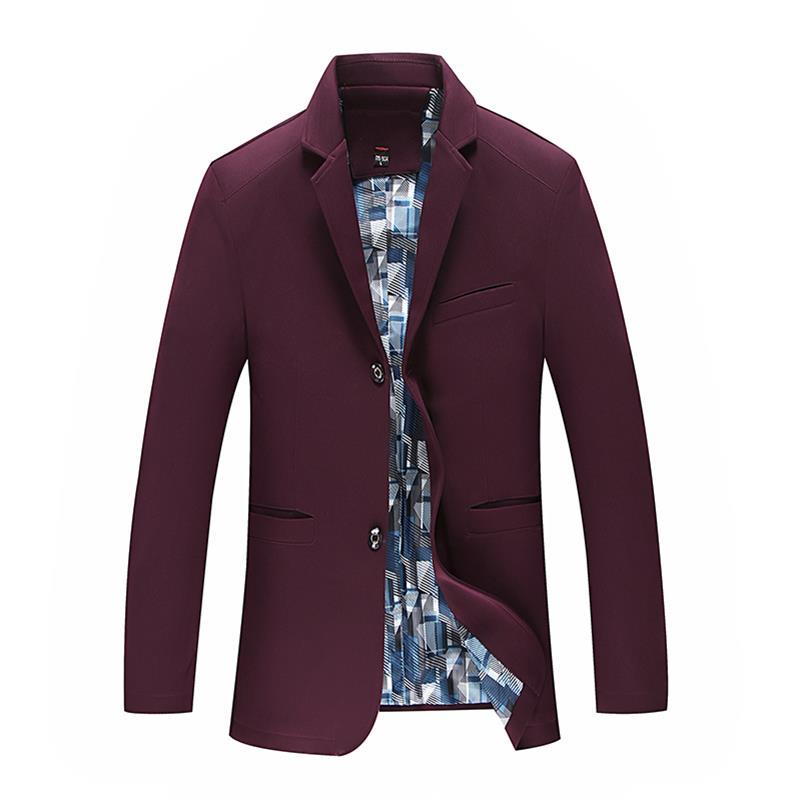 2 Mode Décontractée Vestes Classique 10xl Costume 6xl Veste 9xl 3 Hommes 1 Coton Manteaux 5xl Couleur Mens Solide 8xl Blazer IIwUq8