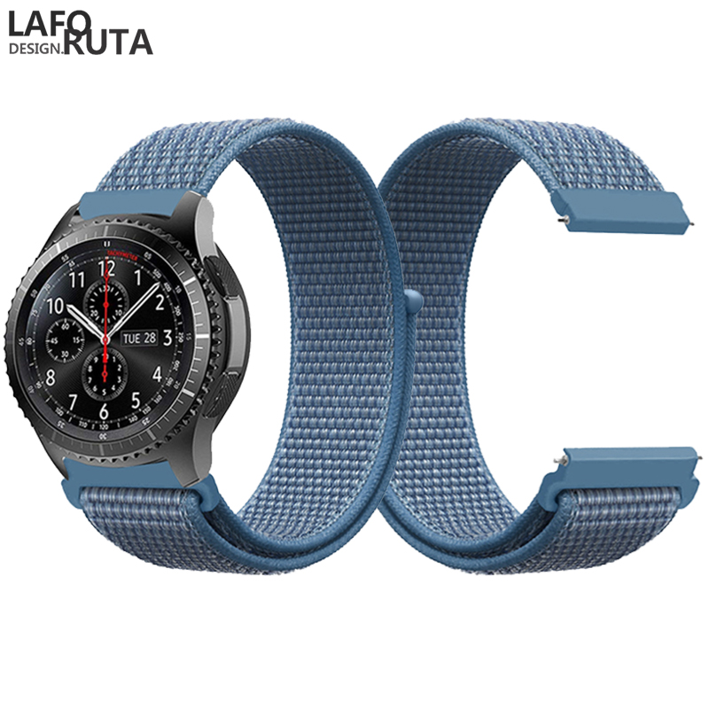 Laforuta Noylon Sport Band for Samsung Gear S3 Frontier Gear S3 Classic Galaxy Watch 46mm Strap 22mm Quick Release Watch Band in Watchbands from Watches