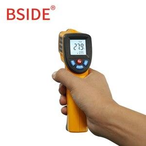 Image 3 - BSIDE GM320 ללא מגע דיגיטלי לייזר אינפרא אדום מדחום LCD תצוגת C/F בחירת טמפרטורת IR בודק עם 4 כפתור