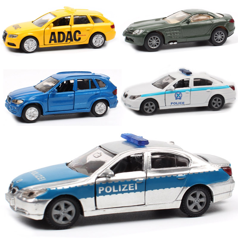 8cm Siku Mini Dodge Viper STR McLaren ADAC Audi A4 Avant 545i Police X5 Harvester Vehicle & Diecast Cars Model Toy For Baby Kids