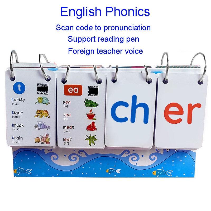 252PCS English Phonics Word books Cards FlashCards ...