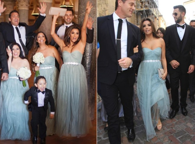 2a876d9366f 2017 Long Tulle Dusty Blue Bridesmaid Dresses with Crystal Beaded Sash  Sweetheart Floor Length Wedding Party