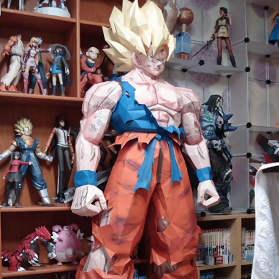 Tronzo 175 cm 1/1 grand Dragon Ball Action Figure papier modèle Goku Super Saiyan DBZ Collection bâtiment modèle figuraux