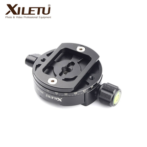Image 2 - XILETU XPC 60 360 Degree Panoramic Clamp Aluminum Alloy Adapter Quick Release Plate Tripod DSLR Photography Accessory Only 145g