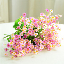 artificial flowers silk daisy artificial gerber daisy for home decoration artificial daisy for wedding decoration Silk Flowers Artificial Flowers Simulation Mini Chrysanthemum Daisy Tissue Hand Made Wedding Home Party Decoration