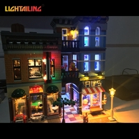 Led Light Building Blocks For 10246 Creator City Street Detective S Office Model Lepin 15011 Compatible