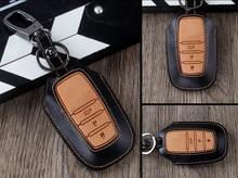 Gute & Neu! spezielle autoschlüssel fall für Toyota Land Cruiser 200 2017-2014 langlebige mode echtem leder tastaturabdeckung, Freies verschiffen