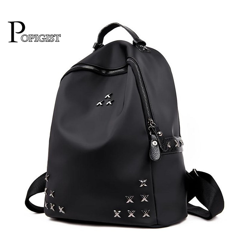 Top fashion Backpacks Fashion Female Oxford Shoulder Bag  women rivet Backpack SchoolBags youth Backpack Girl's Daily Bag new arrival set of four rivet with embossing backpack female rivet woolly bear pendant with fashion backpacks b 40