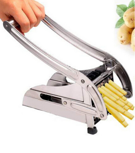 Stainless Steel Potato Cut Section Device Handmade Fries Vegetables Fruits Cutting Machine